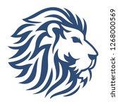 lion head vector icon | Shutterstock .eps vector #1268000569
