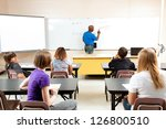 african american male teacher... | Shutterstock . vector #126800510