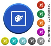 adjust object color round color ... | Shutterstock .eps vector #1268005660
