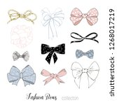 beautiful graphic bows... | Shutterstock .eps vector #1268017219