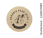 pear juice paper emblem with... | Shutterstock .eps vector #1268019889