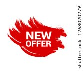 red banner with text new offer...