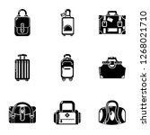 shipment icons set. simple set... | Shutterstock . vector #1268021710