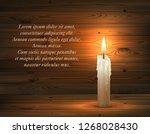 vector 3d realistic burning...   Shutterstock .eps vector #1268028430