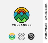 geometric colorful volcano... | Shutterstock .eps vector #1268031886