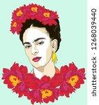 magdalena carmen frida kahlo... | Shutterstock .eps vector #1268039440