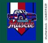 vintage car t shirt vector... | Shutterstock .eps vector #1268059339