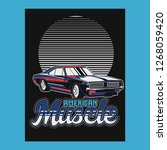 vintage car t shirt vector...   Shutterstock .eps vector #1268059420