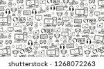 cyber sport banner. esports... | Shutterstock . vector #1268072263