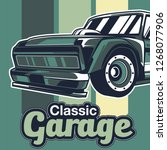 retro style muscle car   vector    Shutterstock .eps vector #1268077906