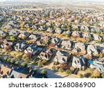 aerial view well lined and... | Shutterstock . vector #1268086900