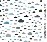 dark blue vector seamless... | Shutterstock .eps vector #1268087449
