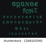 grunge vector font   Shutterstock .eps vector #1268103340