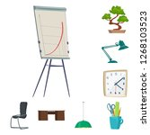 vector design of furniture and... | Shutterstock .eps vector #1268103523