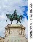 statue of vittorio emanuele ii...   Shutterstock . vector #1268107966