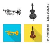 vector illustration of music... | Shutterstock .eps vector #1268108353
