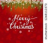merry christmas. beautiful... | Shutterstock .eps vector #1268112373