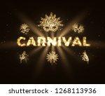 carnival gold glitter... | Shutterstock .eps vector #1268113936