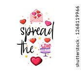 spread the love. slogan about... | Shutterstock .eps vector #1268119966