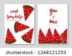 card template watermalon...   Shutterstock .eps vector #1268121253