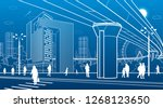 business center  city... | Shutterstock .eps vector #1268123650