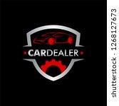 car dealer car logo | Shutterstock .eps vector #1268127673
