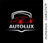 autolux car logo | Shutterstock .eps vector #1268127679