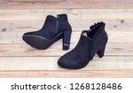 low budget genuine leather high ... | Shutterstock . vector #1268128486