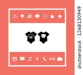 baby rompers icon. graphic... | Shutterstock .eps vector #1268130949