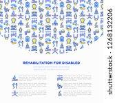 rehabilitation for disabled...   Shutterstock .eps vector #1268132206