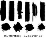 hand drawn scribble symbols... | Shutterstock .eps vector #1268148433