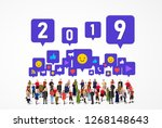 large group of people with...   Shutterstock .eps vector #1268148643