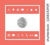 earth symbol logo. graphic... | Shutterstock .eps vector #1268152939