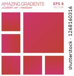 colorful gradients in jazzberry ... | Shutterstock .eps vector #1268160316