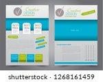 flyer template. brochur design... | Shutterstock .eps vector #1268161459