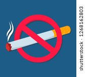 no smoking sign vector... | Shutterstock .eps vector #1268162803