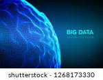 abstract bigdata science... | Shutterstock .eps vector #1268173330
