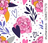 seamless floral pattern for... | Shutterstock .eps vector #1268177173