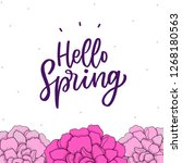spring flower background with... | Shutterstock .eps vector #1268180563