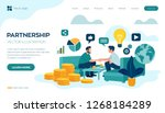 partnership concept. financing... | Shutterstock .eps vector #1268184289