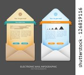 email info graphic vector... | Shutterstock .eps vector #126819116