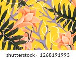colourful seamless pattern with ... | Shutterstock . vector #1268191993