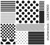 black and white geometric... | Shutterstock .eps vector #126819800