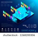 smart home automation and... | Shutterstock .eps vector #1268200306