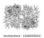 vector illustration of flowers. ...   Shutterstock .eps vector #1268203810