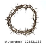 Crown Of Thorns Isolated Over...