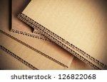 corrugated cardboard sheets...   Shutterstock . vector #126822068