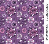 seamless pattern with floral... | Shutterstock .eps vector #1268230339