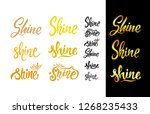 set of shine. gold effect word... | Shutterstock .eps vector #1268235433