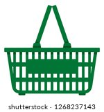 empty green color shopping... | Shutterstock .eps vector #1268237143